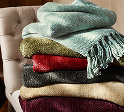 Knit Throw Flash Sale