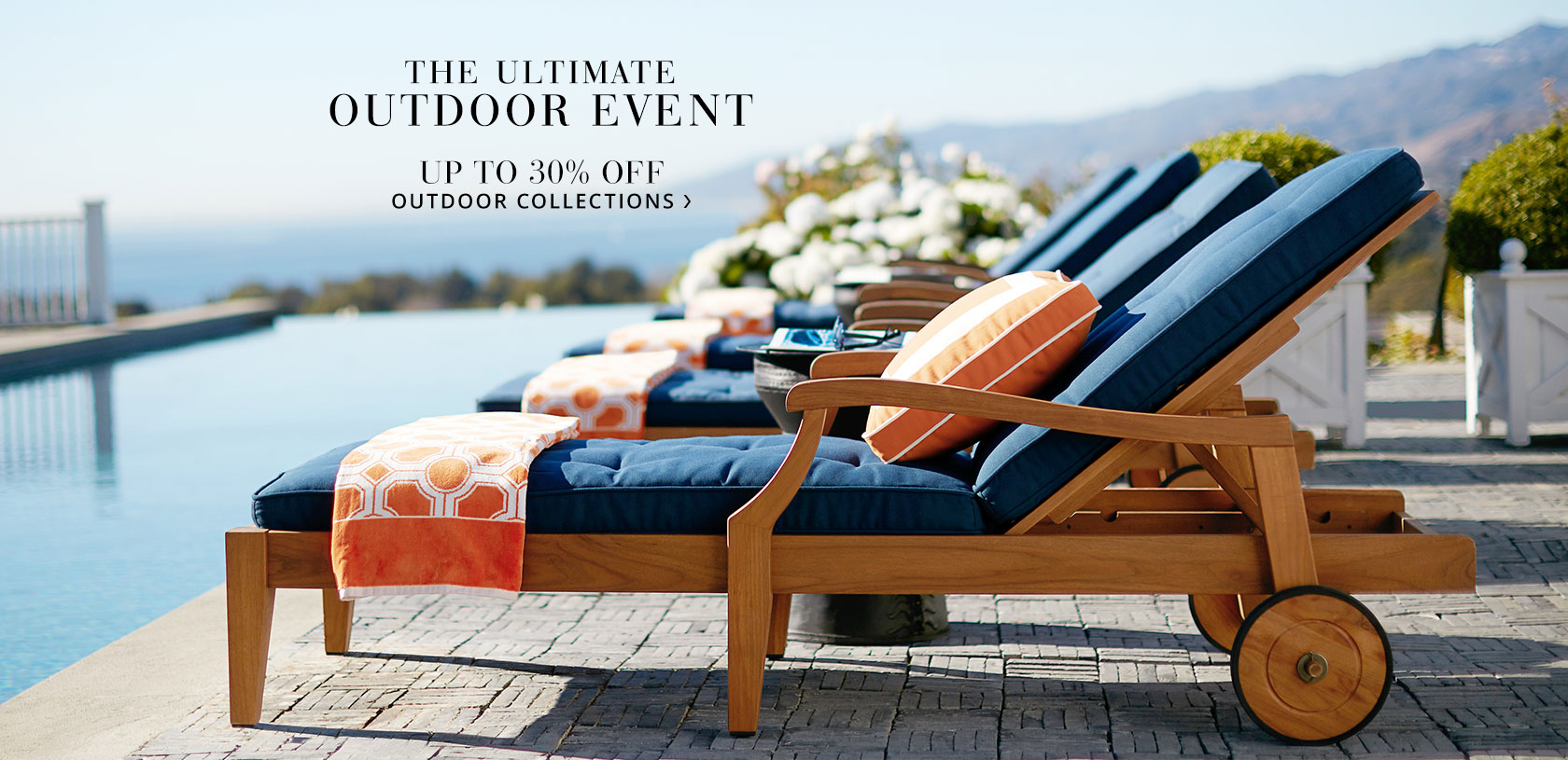 Pottery Barn - 30% off Outdoor Furniture