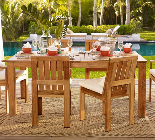 how to stain outdoor furniture pottery barn