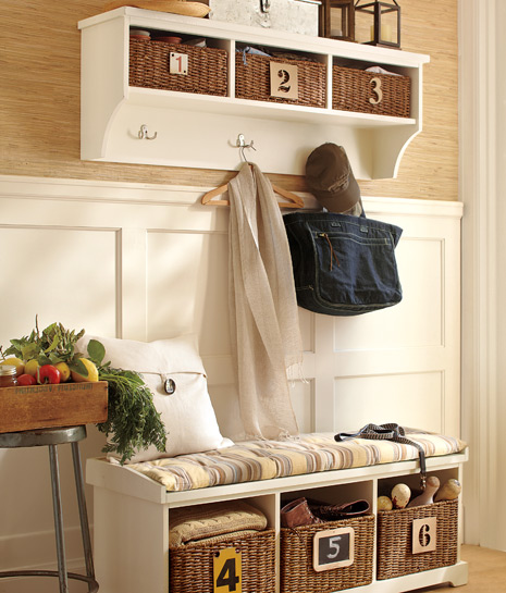 Storage solutions for your entryway pottery barn - Front entry storage ideas ...