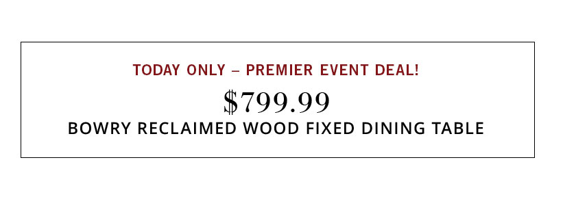 Premier Event Sale
