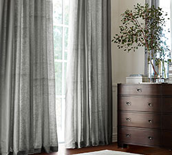 Linen Silk Blend Drapes Sale