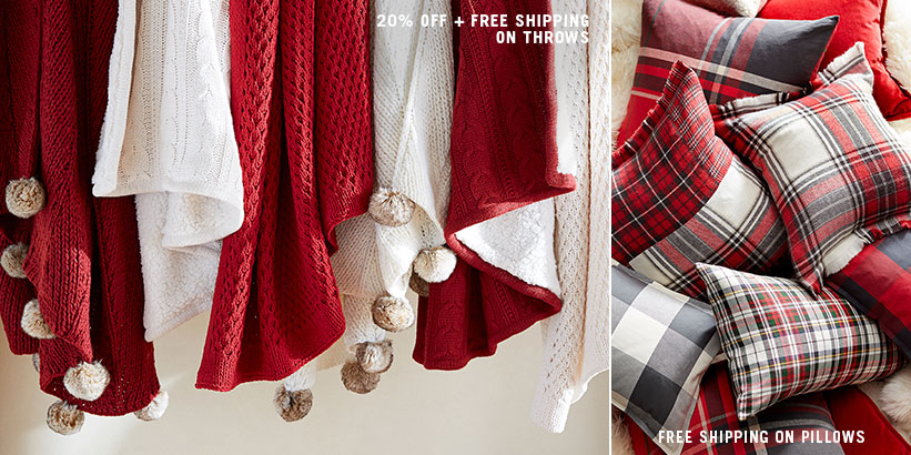 Throws & Pillows Free Shipping