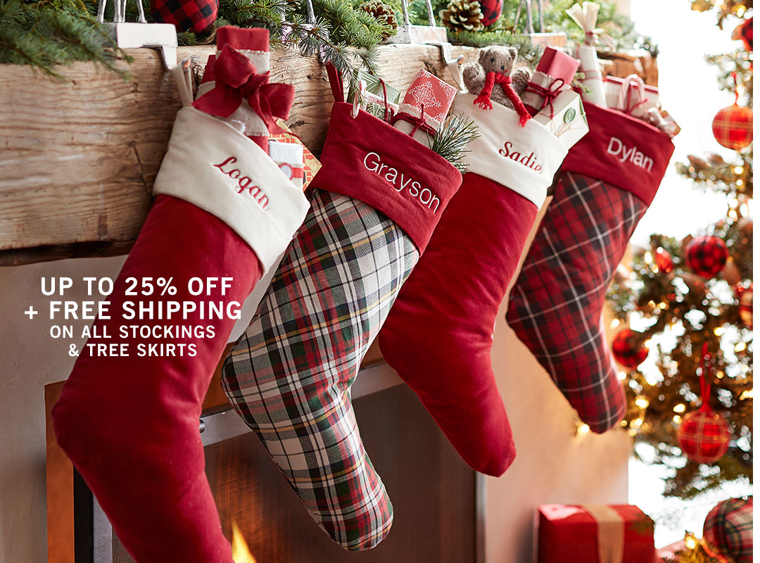 Stockings & Tree Skirts Sale