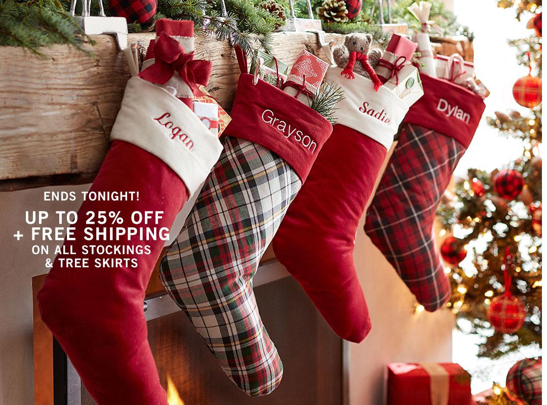 Stockings & Tree Skirts Sale