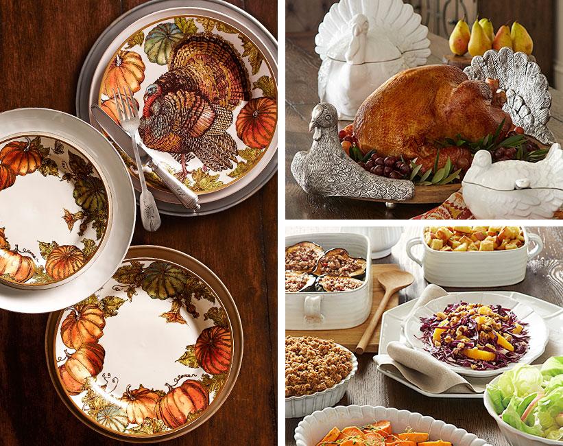 Turkey serveware for thanksgiving pottery barn for Pottery barn thanksgiving