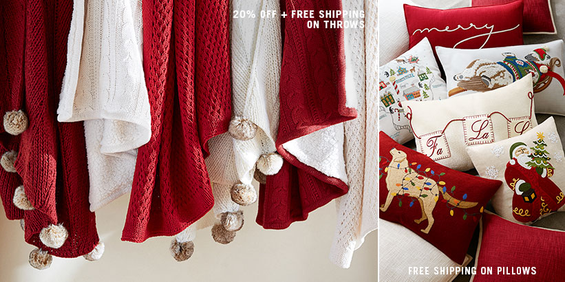 Throws & Pillows Free Shipping