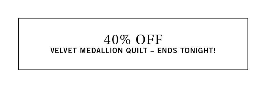 Velvet Medallion Quilt Sale
