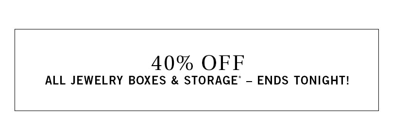 Jewelry Boxes & Storage Sale