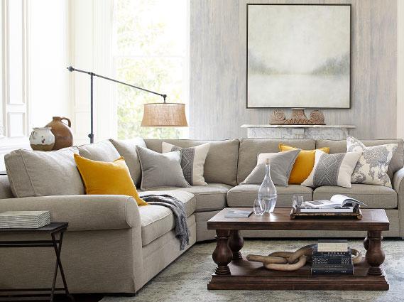 pearce lorraine living room pottery barn. Black Bedroom Furniture Sets. Home Design Ideas