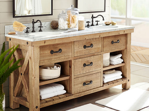 Benchwright Reclaimed Woods Bathroom Pottery Barn