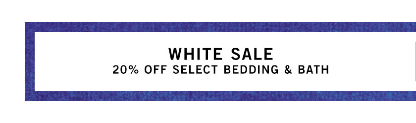 White Bedding & Bath Sale