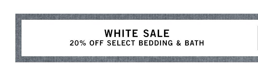 White Bedding & Bath Sale