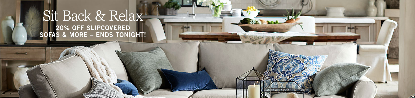 Slipcovered Sofas & More Sale