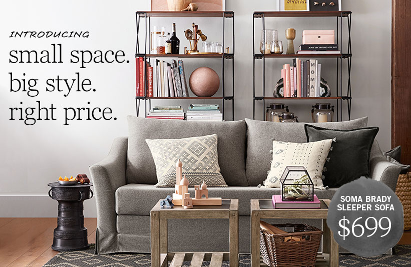small spaces pottery barn