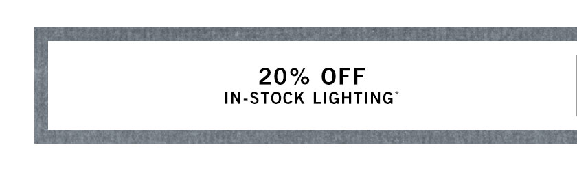 In-Stock Lighting Sale