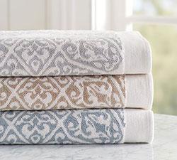 Penny Jacquard Organic Bath Towels