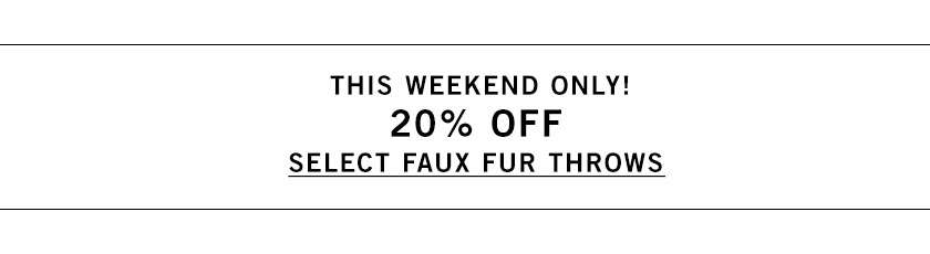 Faux Fur Throws Sale