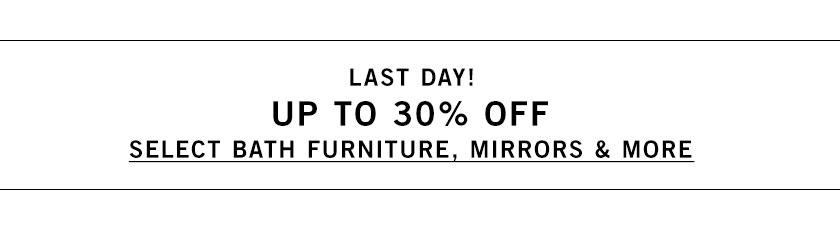 Bath Furniture, Mirrors & More Sale