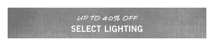 Select Lighting Sale