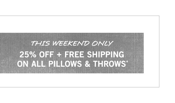 Pillows & Throws Sale