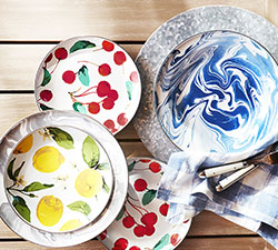 Take on the table! Shop all Melamine & Enamel Dinnerware