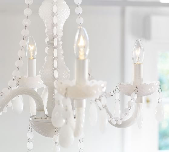 Lara Milk Glass Chandelier