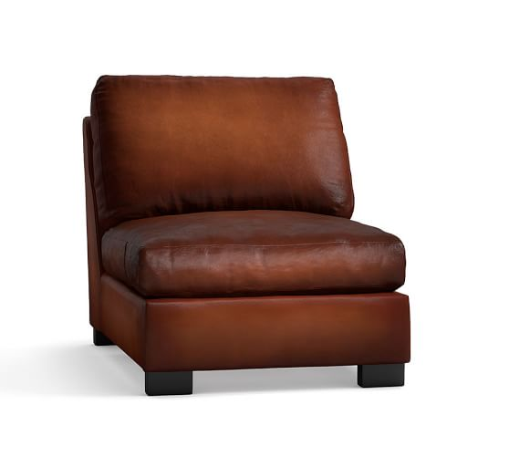 Turner Leather Armless Chair