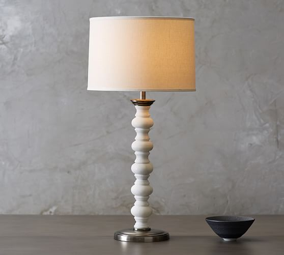 Stacked Stone Spindle Table Lamp Base