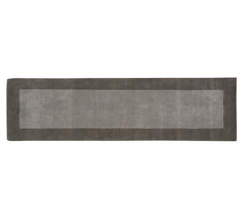 Henley Rug, 2.5x9', Gray