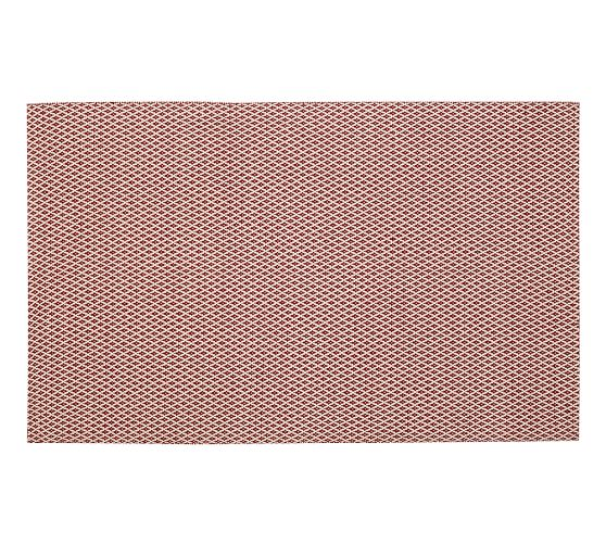 Basic Diamond Indoor/Outdoor Rug, 5 x 8', Red