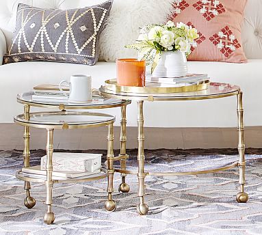 opaline nesting coffee table pottery barn