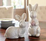 German Glitter Bunny, Sitting