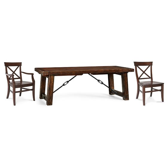 Benchwright Extending Table Aaron Chair Dining Set Pottery Barn