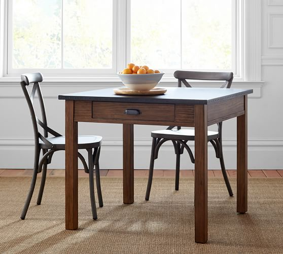 Channing fixed dining table pottery barn for Only dining table online