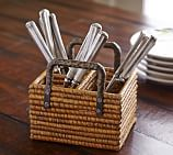 Paros Rattan Flatware Caddy