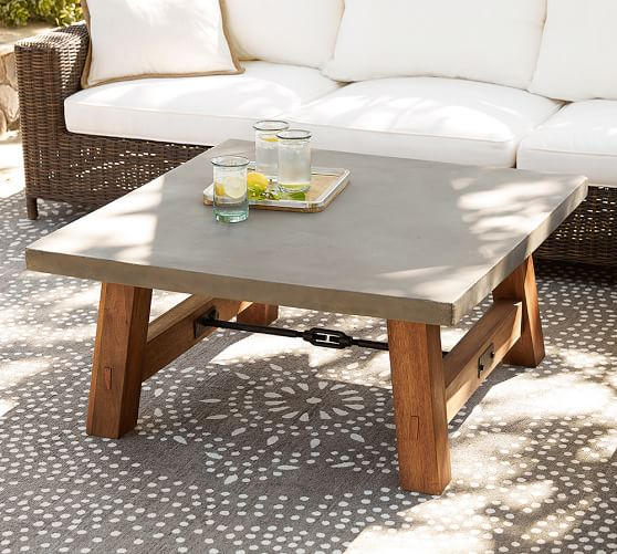 Abbott Square Coffee Table Pottery Barn