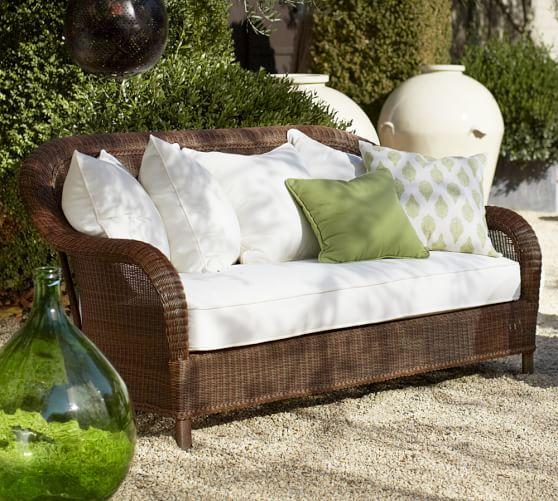 Palmetto All-Weather Wicker Sofa - Honey