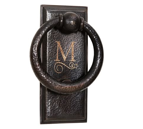 Ella Hammered Metal Door Knocker, Antique Bronze finish