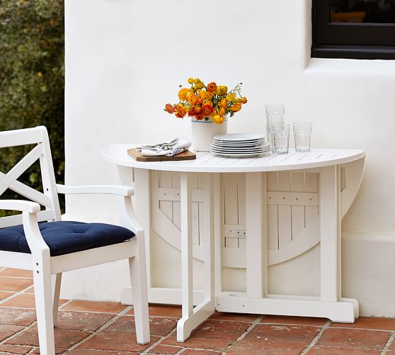 Hampstead painted round drop leaf dining table white for White dining table with leaf