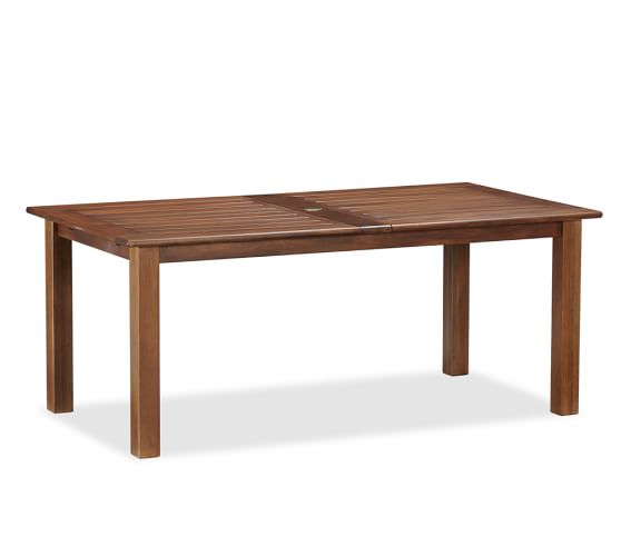 Chatham rectangular extending dining table pottery barn for Only dining table online