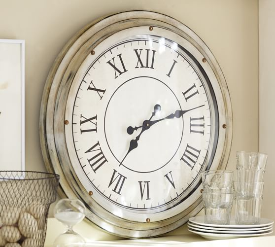 White Station Clock