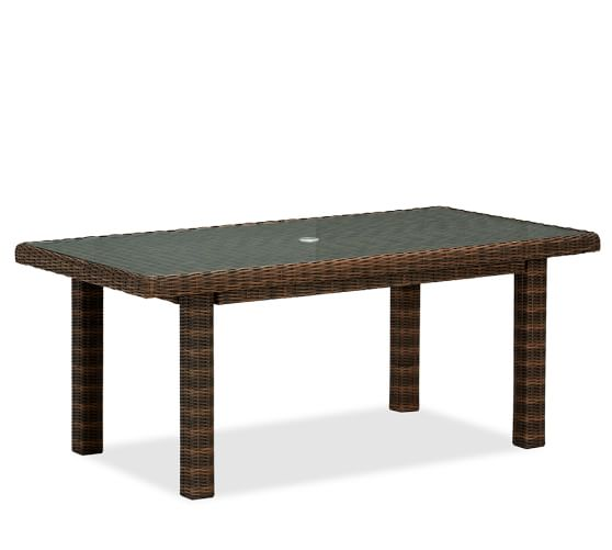 Torrey All Weather Wicker Rectangular Fixed Dining Table