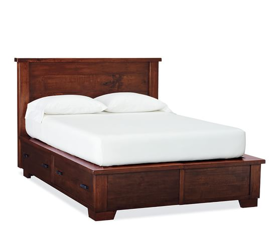 Sumatra Storage Bed, Full/Queen, Mahogany stain
