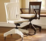 Swivel Desk Chair, Antique White