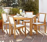 Madera Square Dining Table & 4 Madera Mesh Side Chairs
