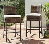 Torrey All-Weather Wicker Barstool, Dark Espresso