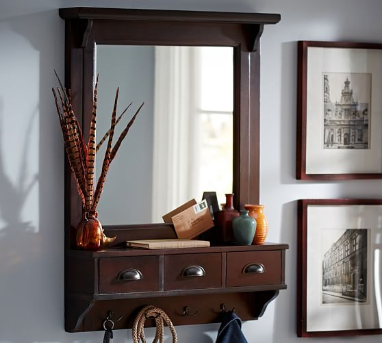Classic entryway organizer large pottery barn for Pottery barn foyer ideas