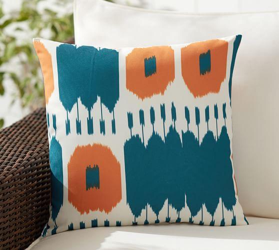 Tess Ikat Indoor/Outdoor Pillow