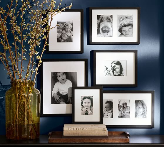 Gallery in a Box, Black Frames, Set of 6
